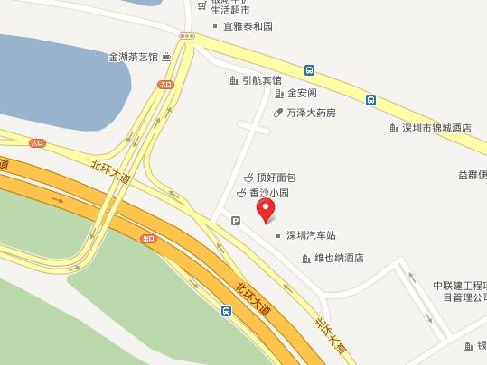 深圳银湖汽车站地图
