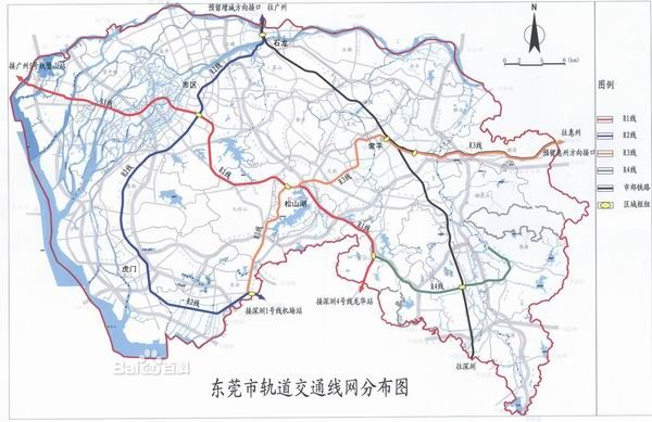 地铁线的r2线,将于2015年开通.   东莞地铁规划   二期工程,高清图片